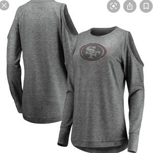 Fanatics SF 49ers Cold Shoulder Top